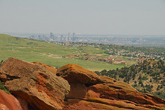 Denver as seen from the Red Rocks