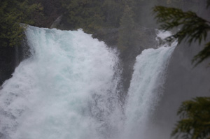 Sahalie Falls in Bigfoot country